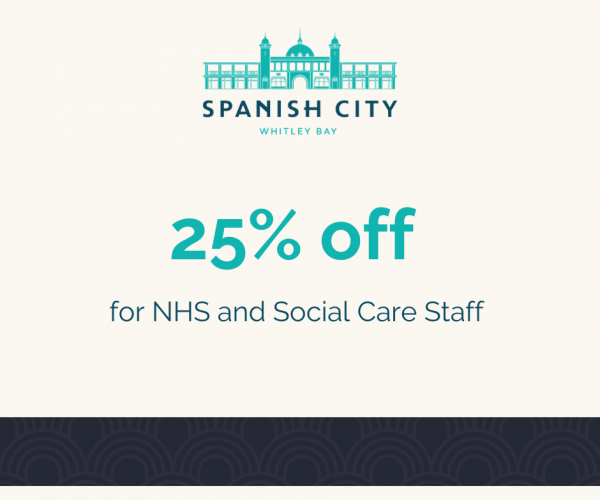 Graphic-image promoting 25% off for NHS staff