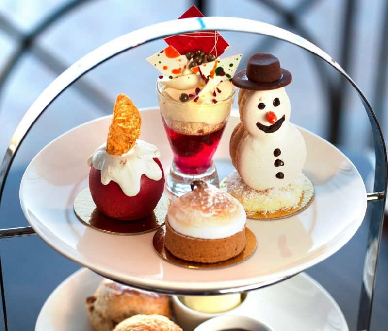 Christmas Afternoon Tea on an Afternoon tea stand