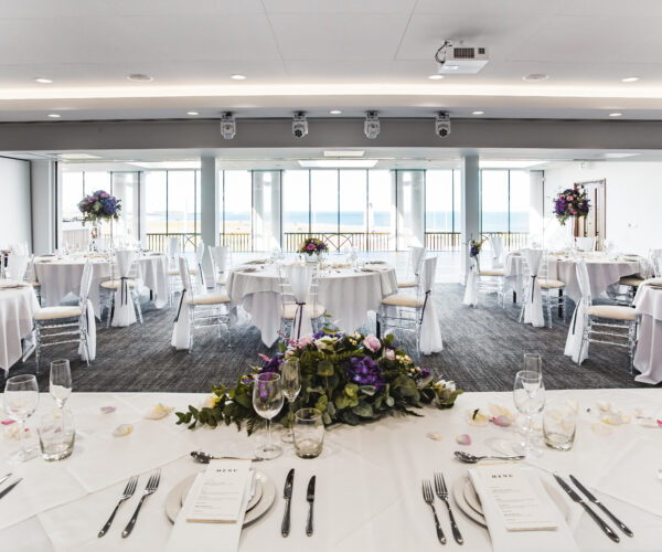 St Mary's Lighthouse Suite set up for a sit down meal